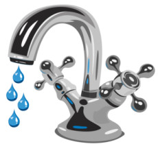 cartoon of a dripping tap